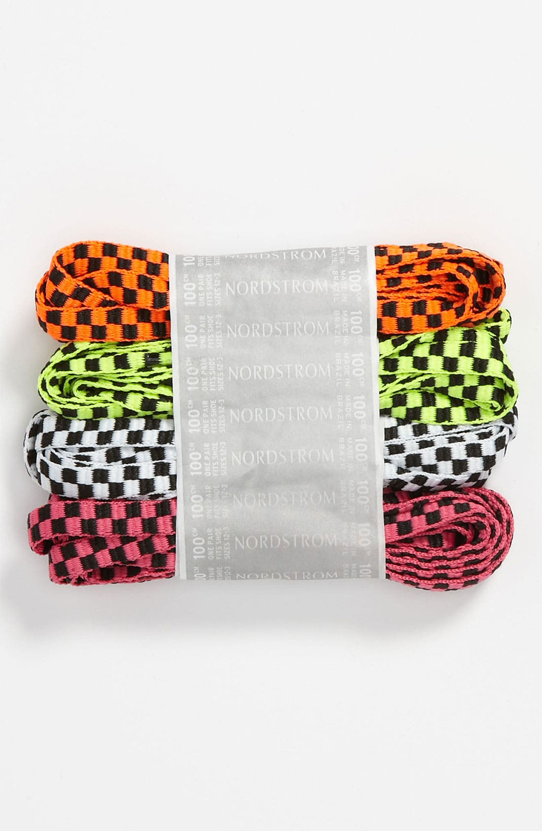 Main Image - Nordstrom Checkered Shoelaces (4-Pack) (Little Kid & Big Kid)