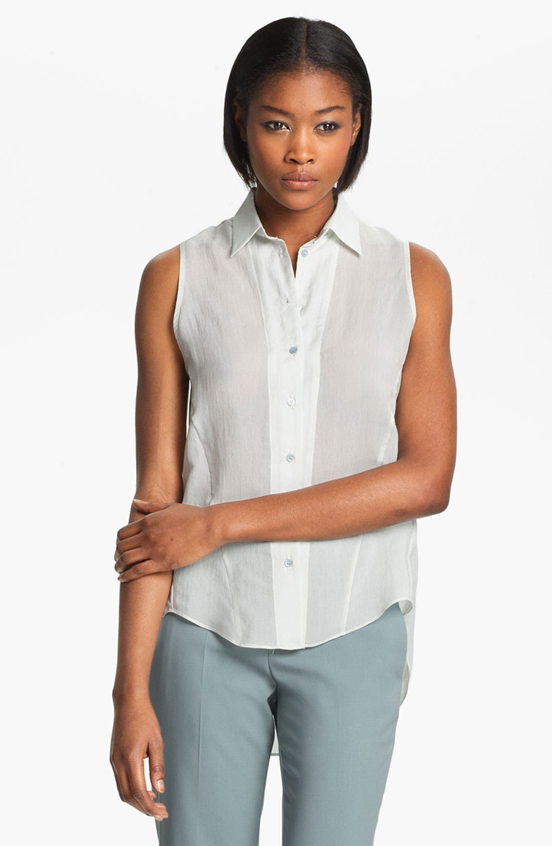 Alternate Image 2  - Theyskens' Theory 'Buzzy Faniel' Sleeveless Blouse