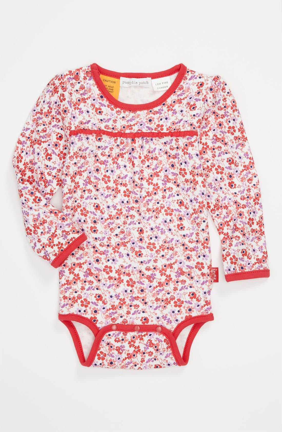 Alternate Image 1 Selected - Pumpkin Patch Long Sleeve Bodysuit (Infant)