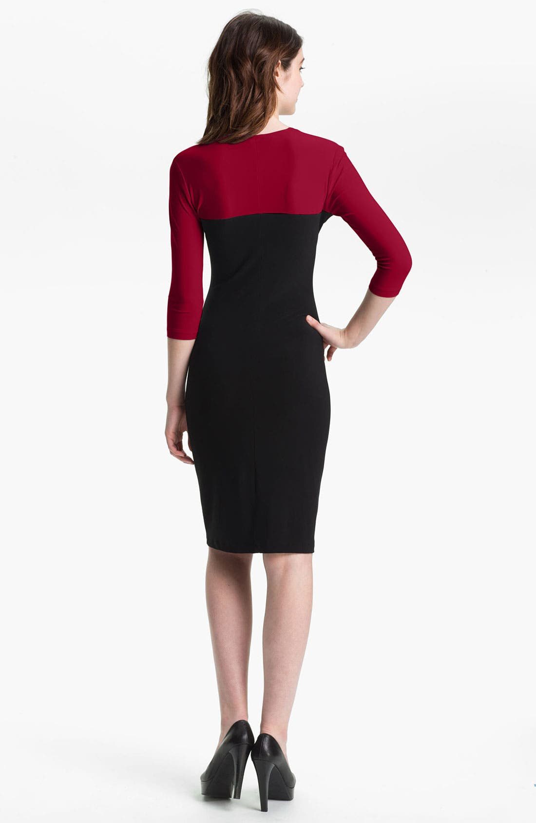 Alternate Image 2  - KAMALIKULTURE Cutout Detail Jersey Sheath Dress