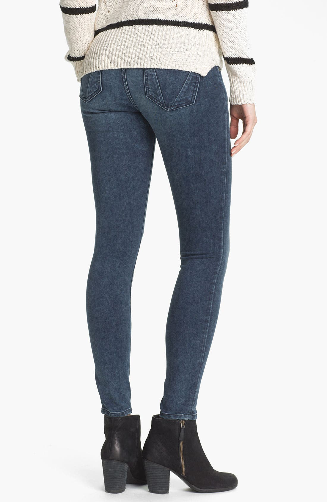 Alternate Image 2  - STS Blue Super Skinny Jeans (Avalon Beach) (Juniors)
