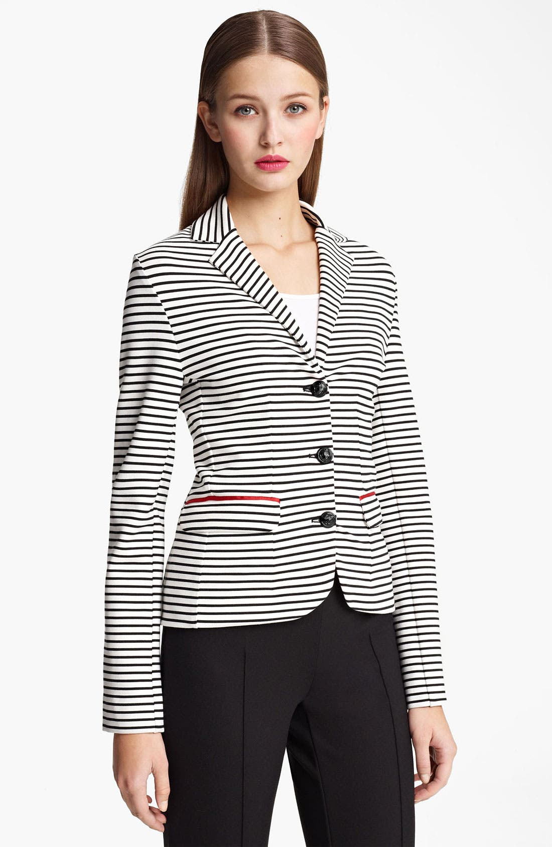 Alternate Image 1 Selected - Moschino Cheap & Chic Stripe Jersey Jacket