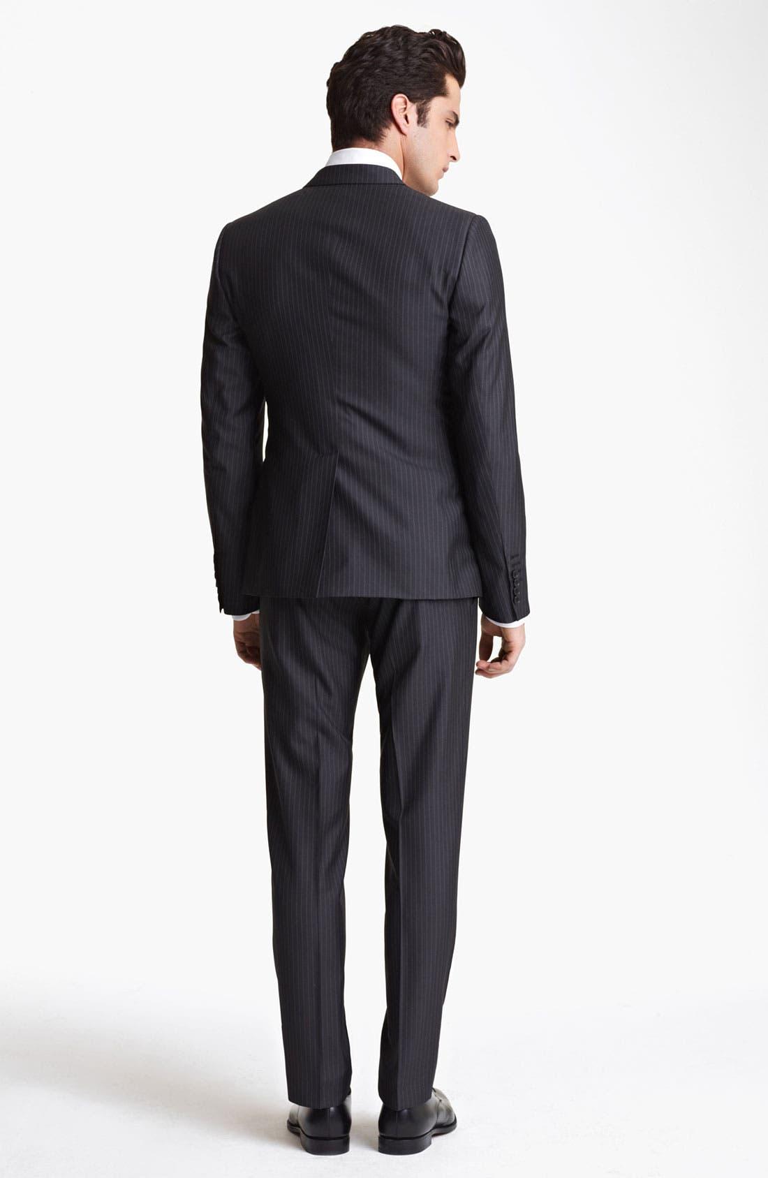 Alternate Image 3  - Dolce&Gabbana Pinstripe Wool & Silk Suit