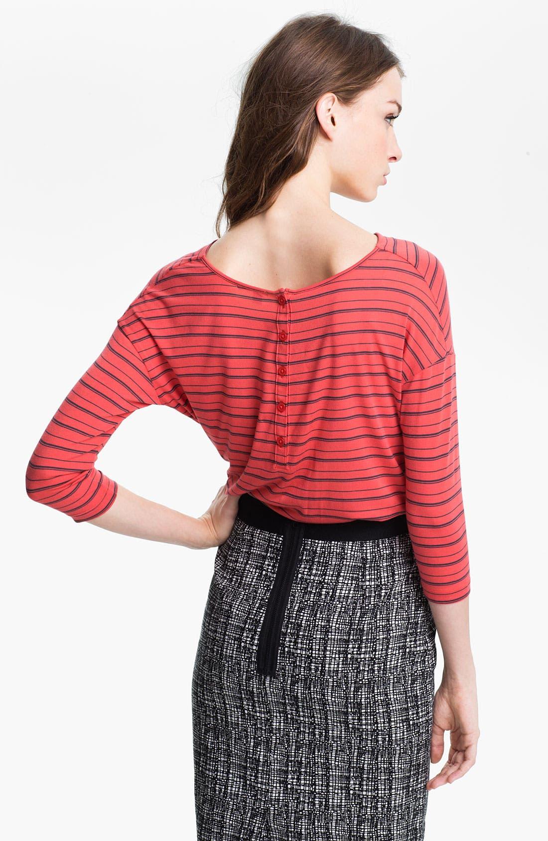 Alternate Image 2  - Halogen® Stripe Wedge Top (Petite)