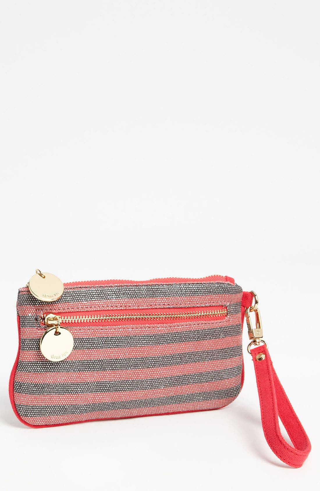 Alternate Image 1 Selected - Deux Lux 'Luka' Striped Canvas Wristlet
