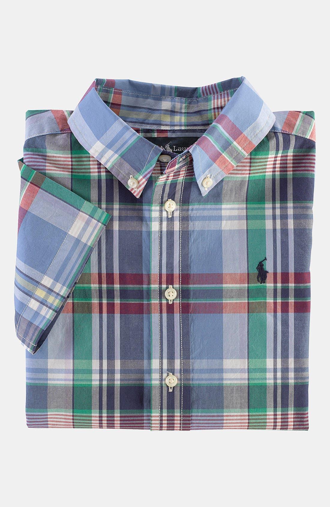 Alternate Image 1 Selected - Ralph Lauren Poplin Shirt (Toddler)