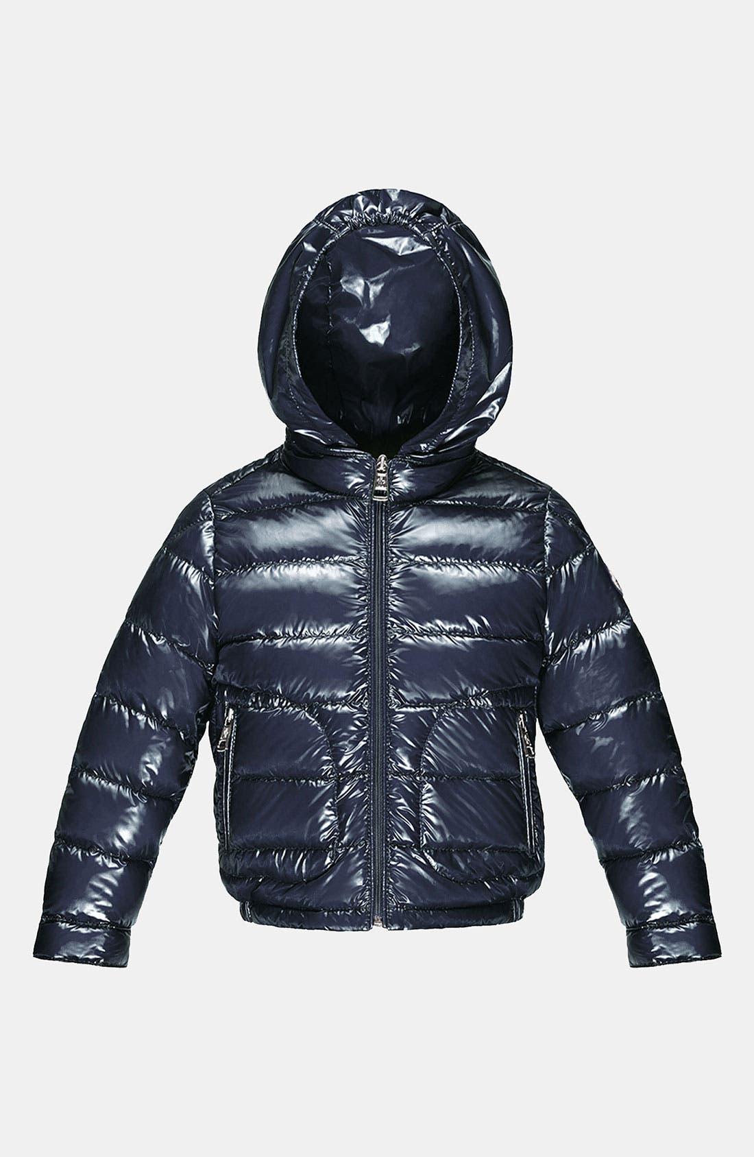 Main Image - Moncler Hooded Down Jacket (Toddler)