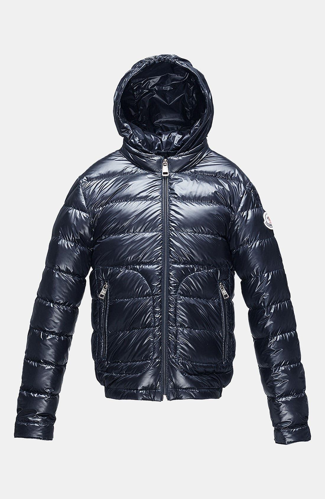 Alternate Image 1 Selected - Moncler Hooded Down Jacket (Little Boys & Big Boys)