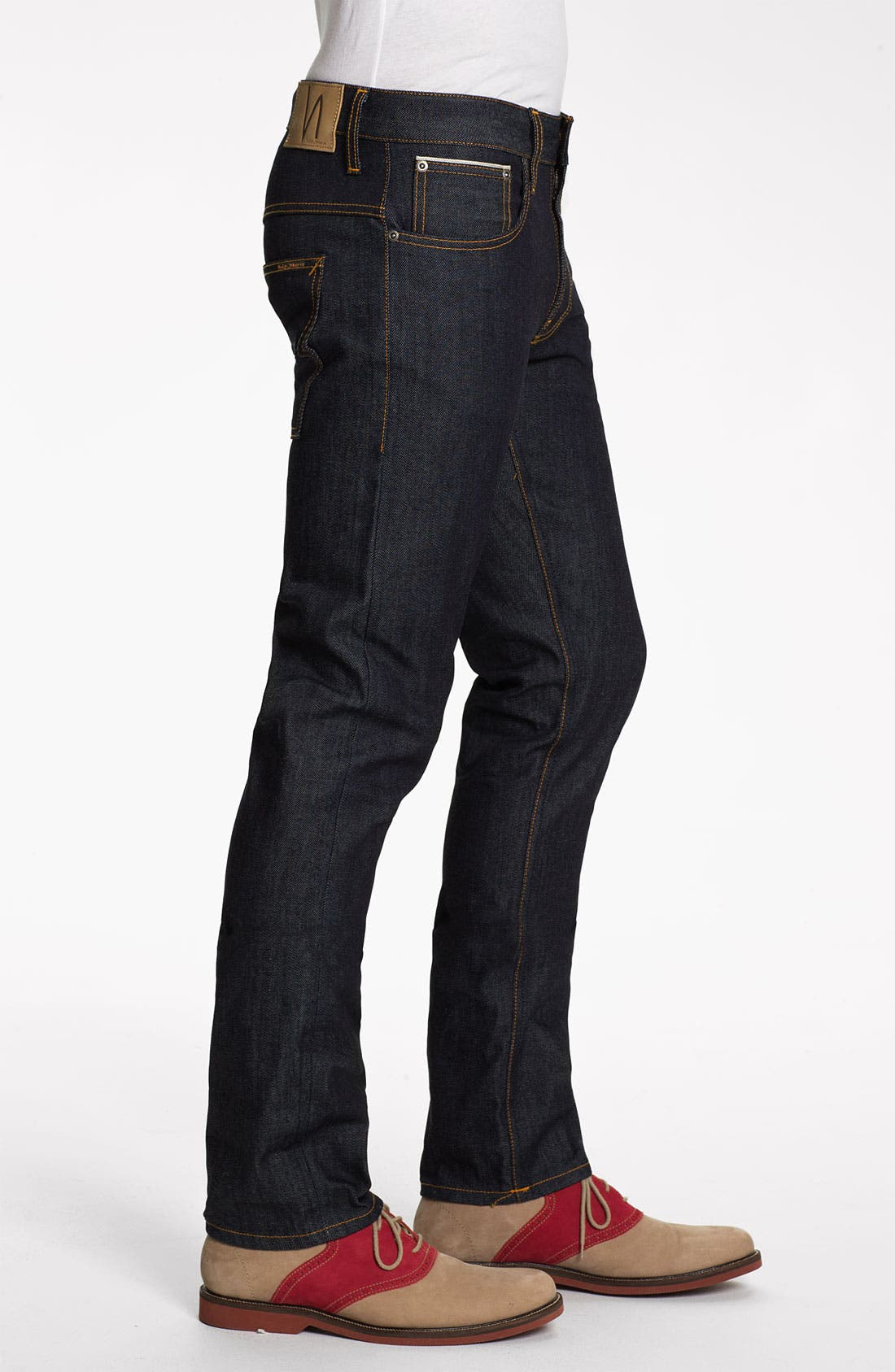 Alternate Image 3  - Nudie 'Thin Finn' Slim Skinny Leg Jeans (Organic Dry Heavy Selvedge)
