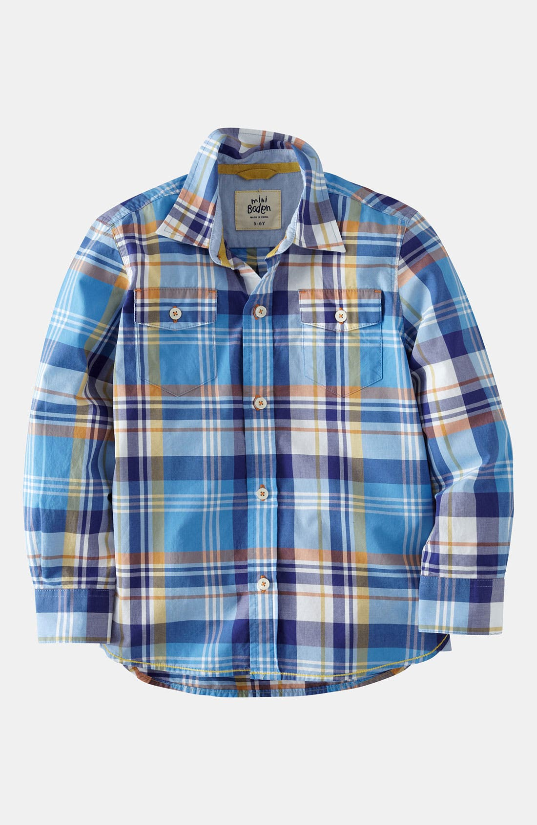 Alternate Image 1 Selected - Mini Boden 'Everyday' Woven Shirt (Little Boys & Big Boys)