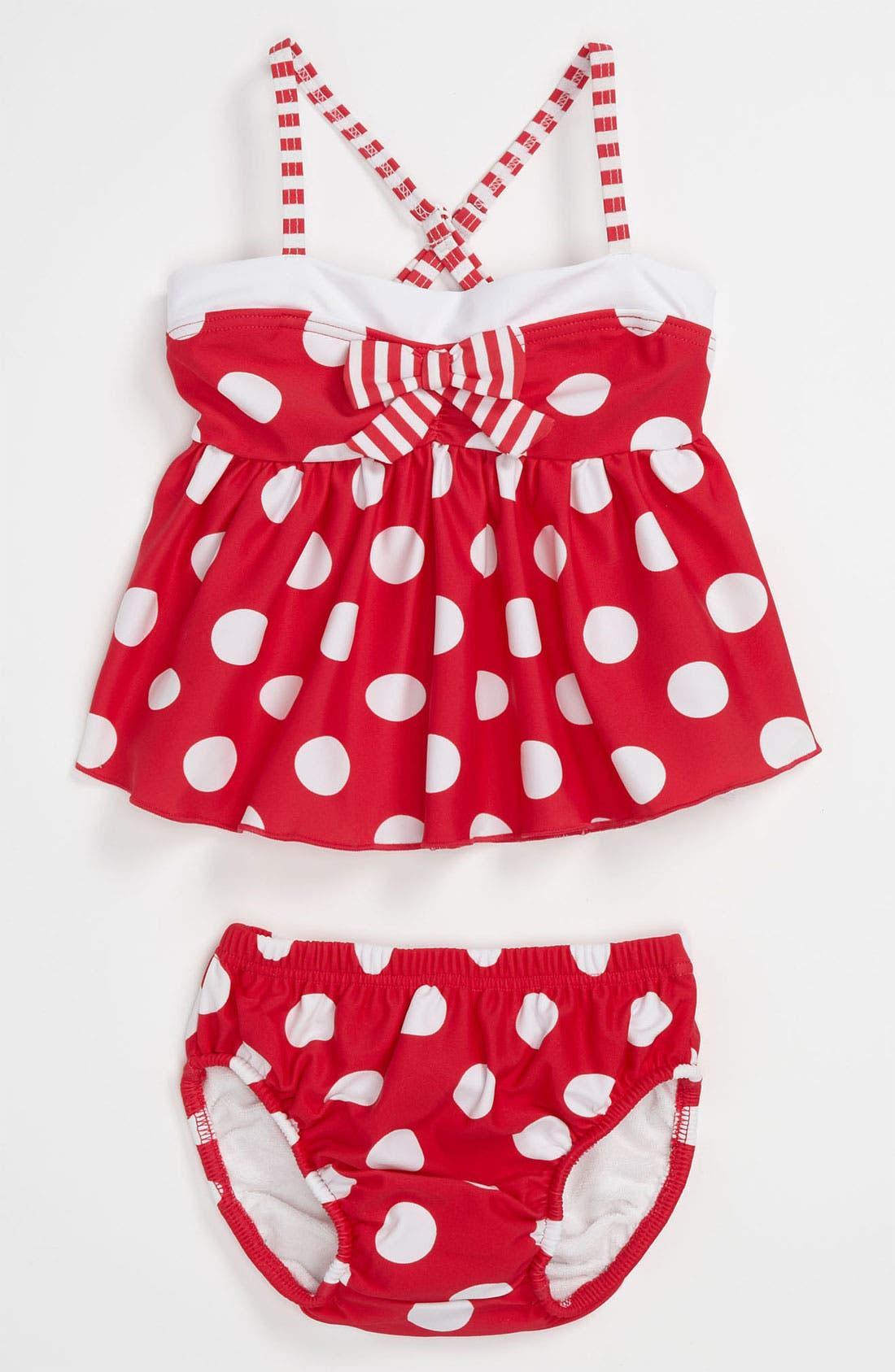 Main Image - Pumpkin Patch Two Piece Swimsuit (Infant)