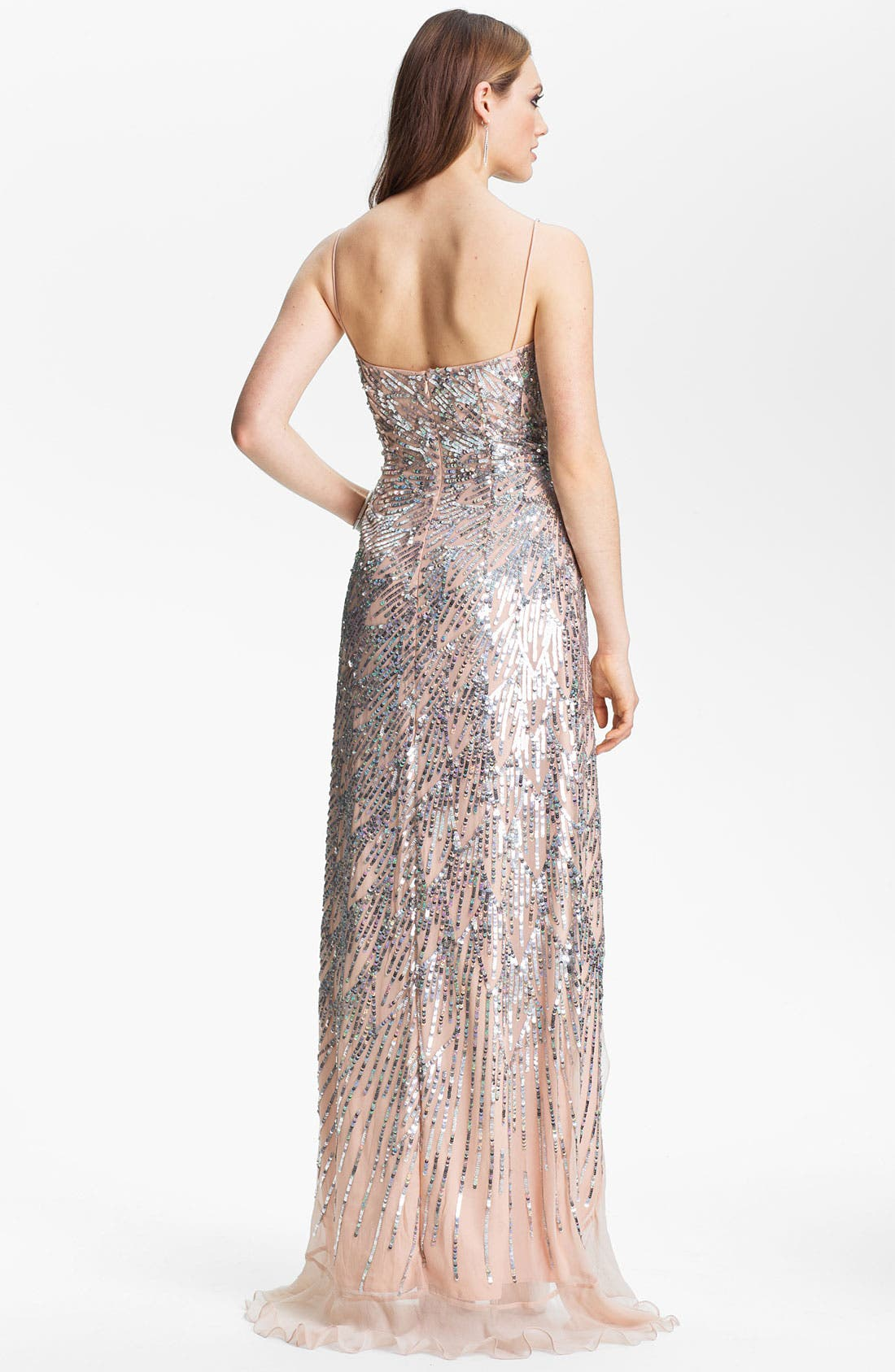 Alternate Image 2  - Sean Collection Sequin Chiffon Gown (Online Exclusive)
