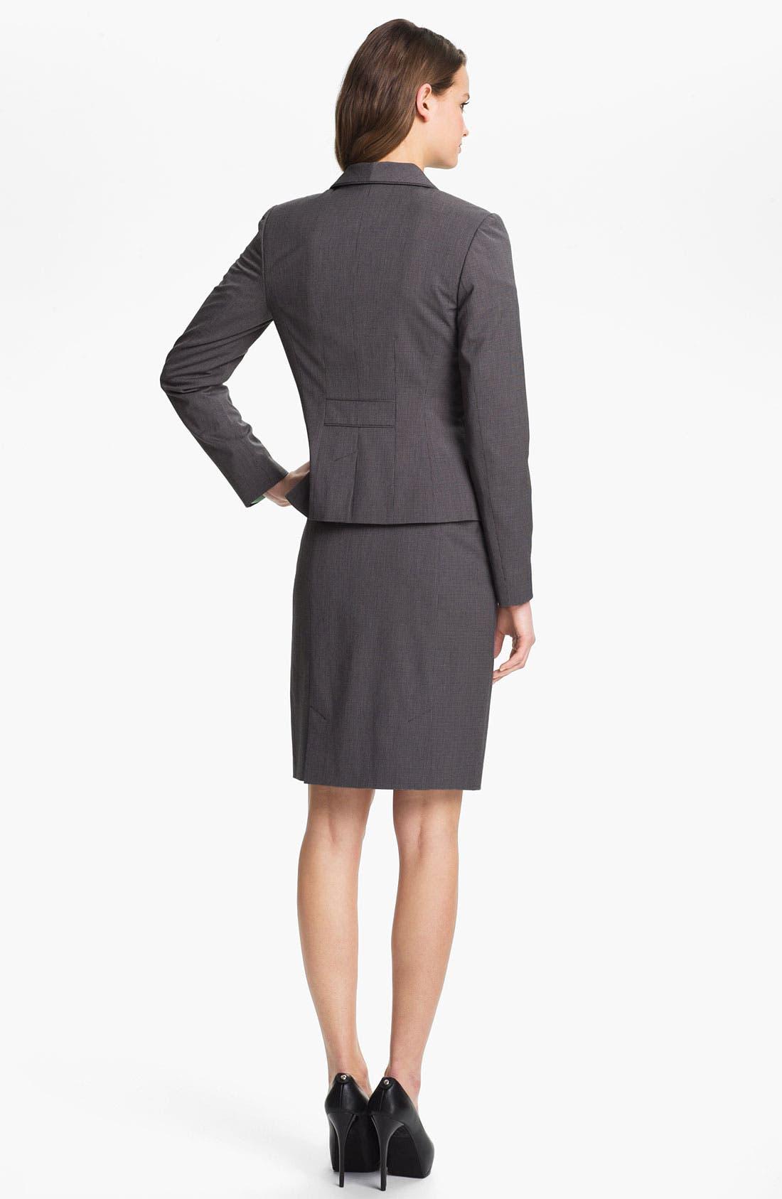 Alternate Image 5  - Halogen® Mini Check Skirt