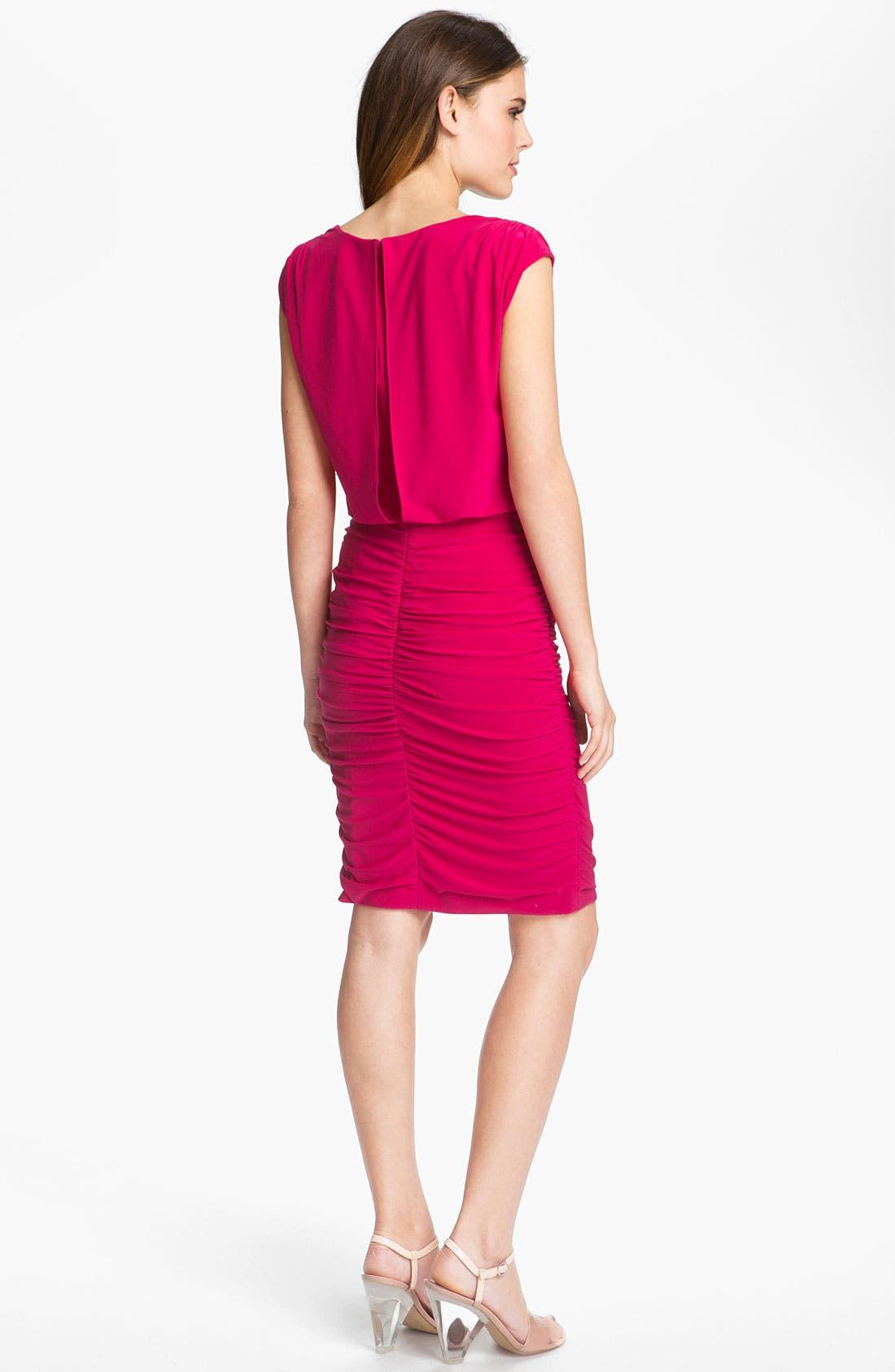 Alternate Image 2  - Adrianna Papell Blouson Jersey Sheath Dress
