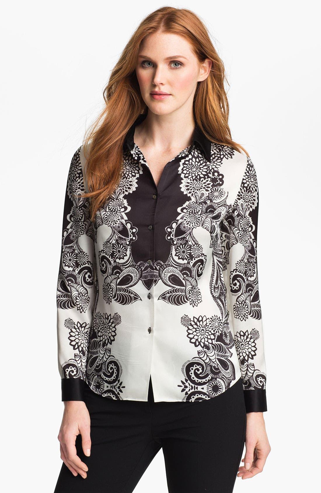 Alternate Image 1 Selected - Adrianna Papell 'Engineered Print' Shirt