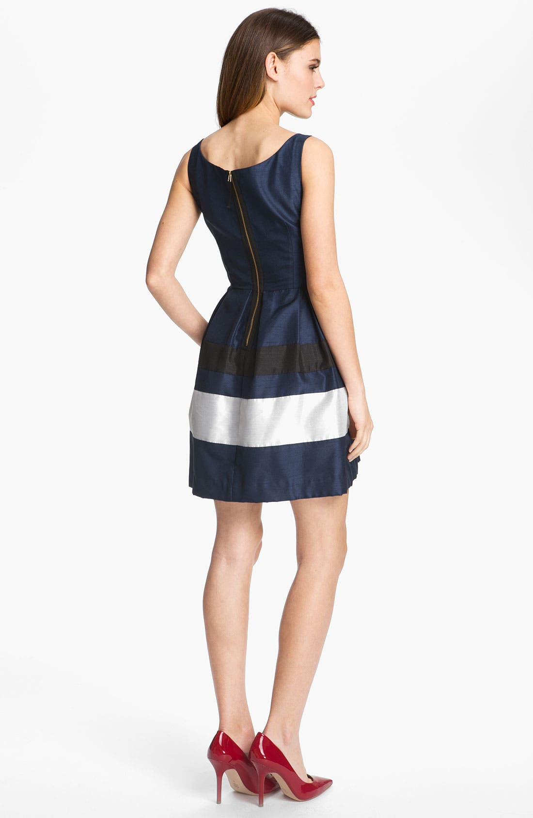 Alternate Image 2  - Taylor Dresses Stripe Fit & Flare Dress