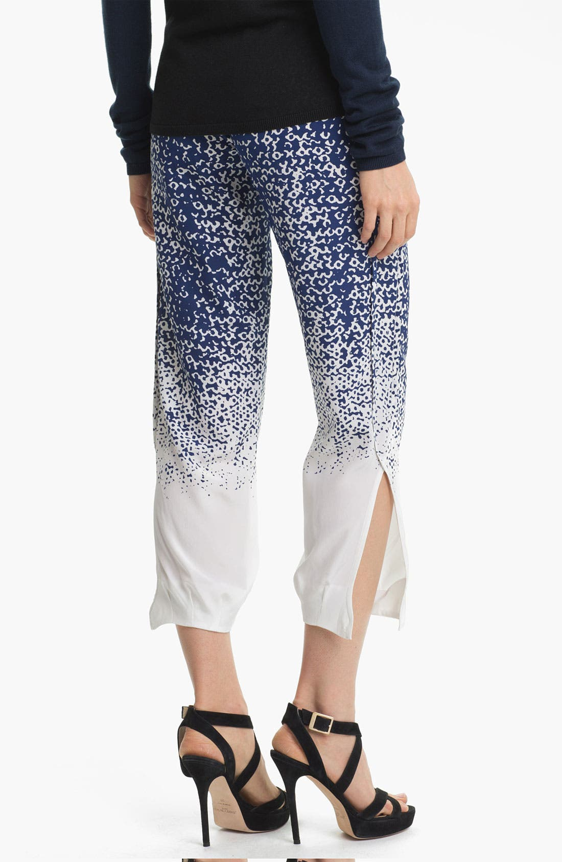 Alternate Image 2  - Diane von Furstenberg 'Kamaris' Crop Silk Pants