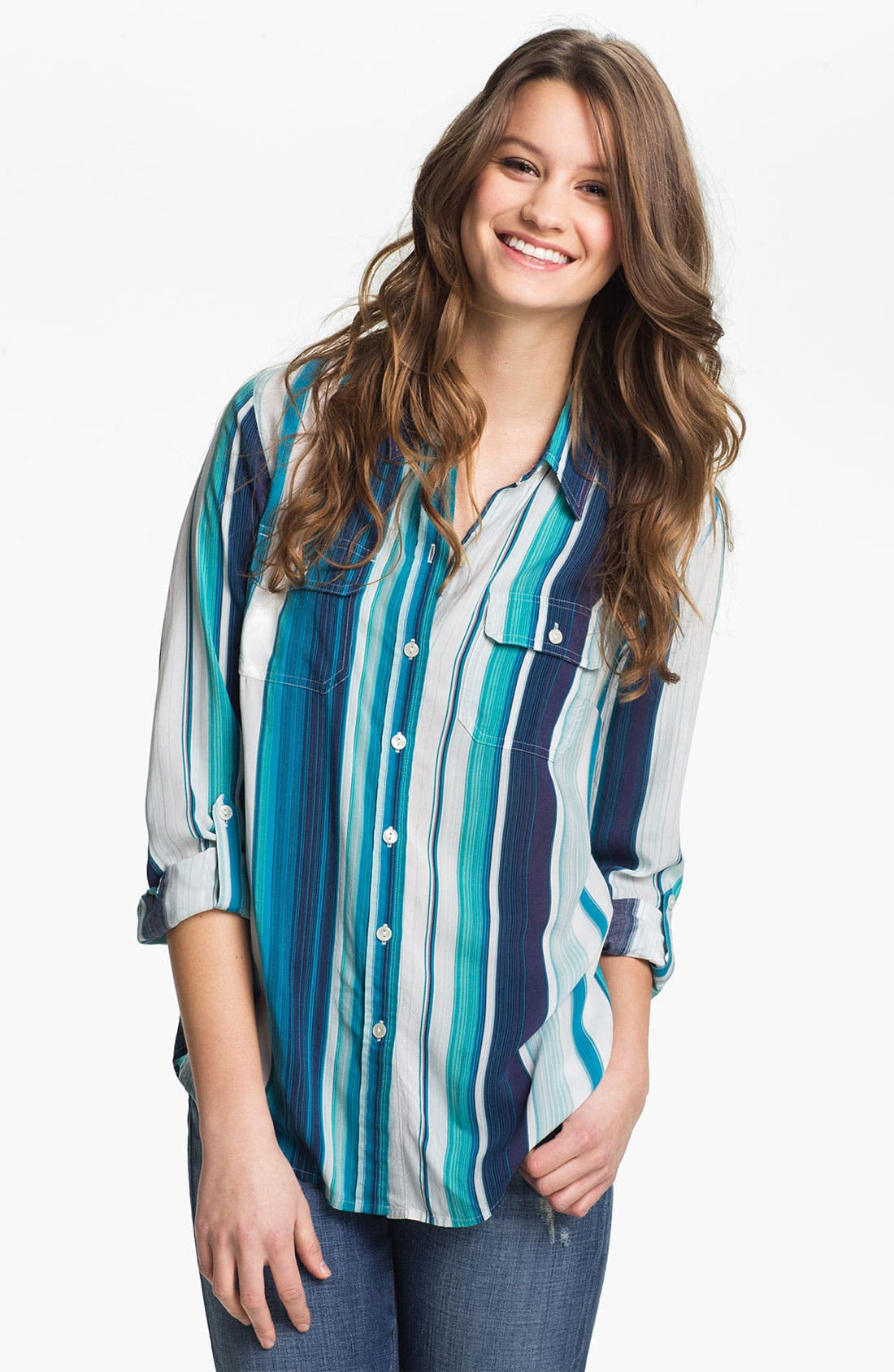 Alternate Image 1 Selected - Lucky Brand 'Brooke' Stripe Shirt