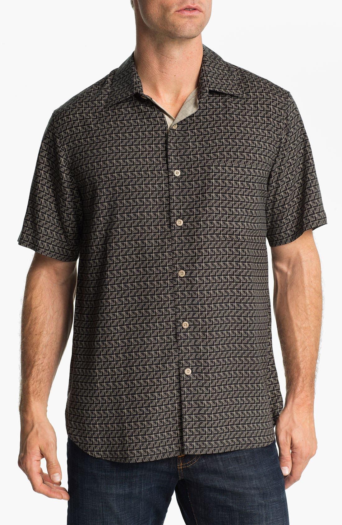 Alternate Image 1 Selected - Nat Nast 'On Board' Silk Regular Fit Sport Shirt