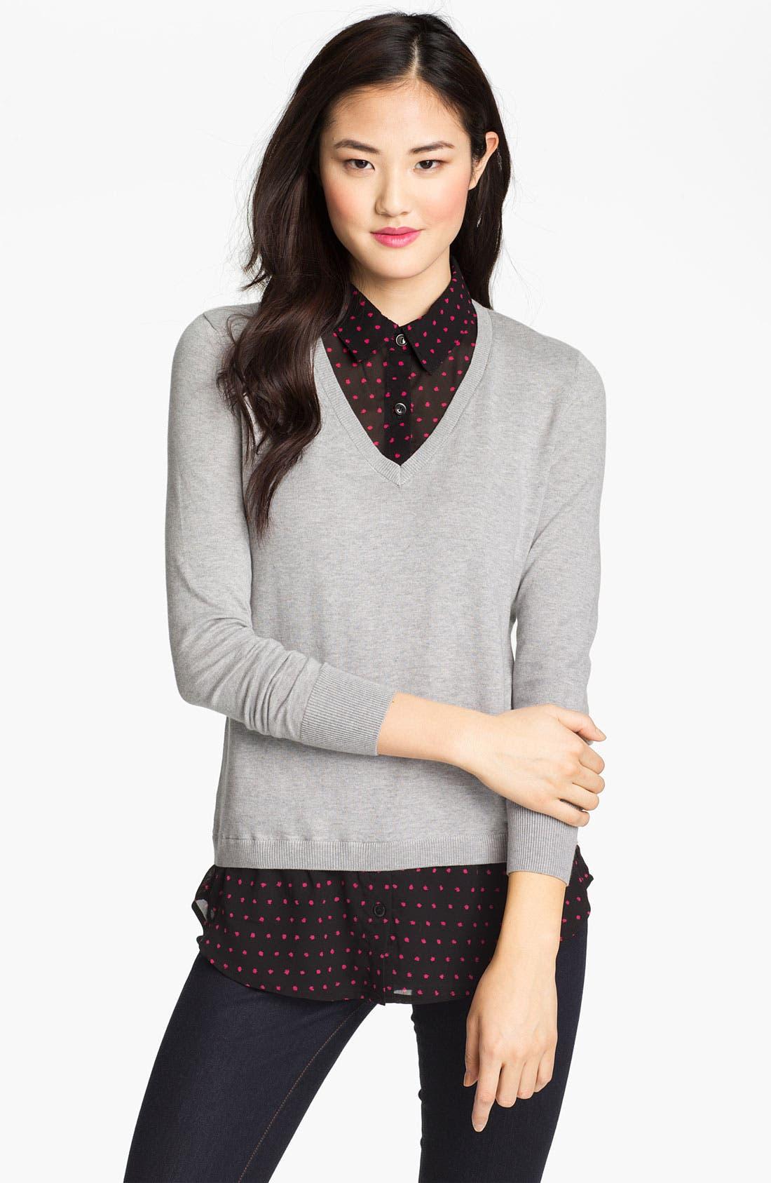 Alternate Image 1 Selected - Halogen Mock Sweater & Blouse Set