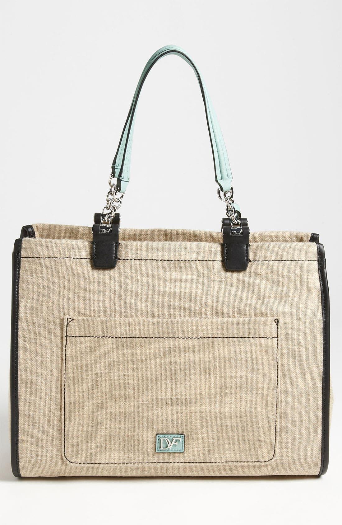 Alternate Image 4  - Diane von Furstenberg 'Lola' Linen Handbag