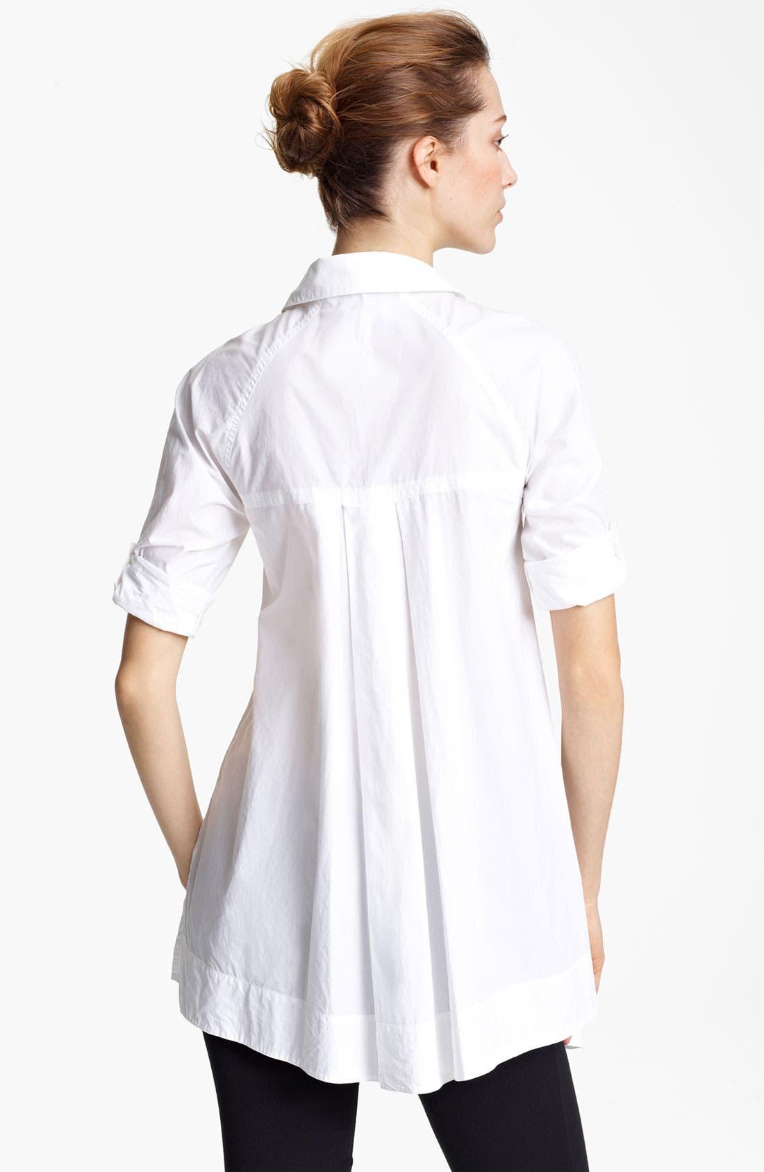 Alternate Image 2  - Donna Karan Collection Cotton Poplin Boyfriend Shirt