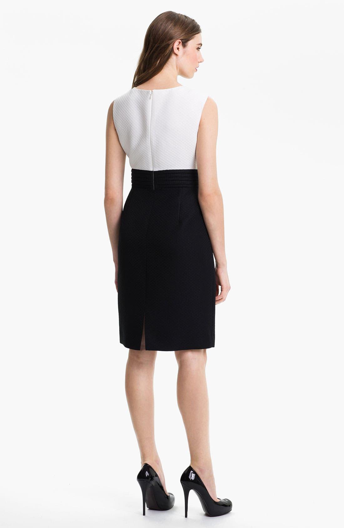 Alternate Image 2  - Tahari Two Tone Jacquard Sheath Dress