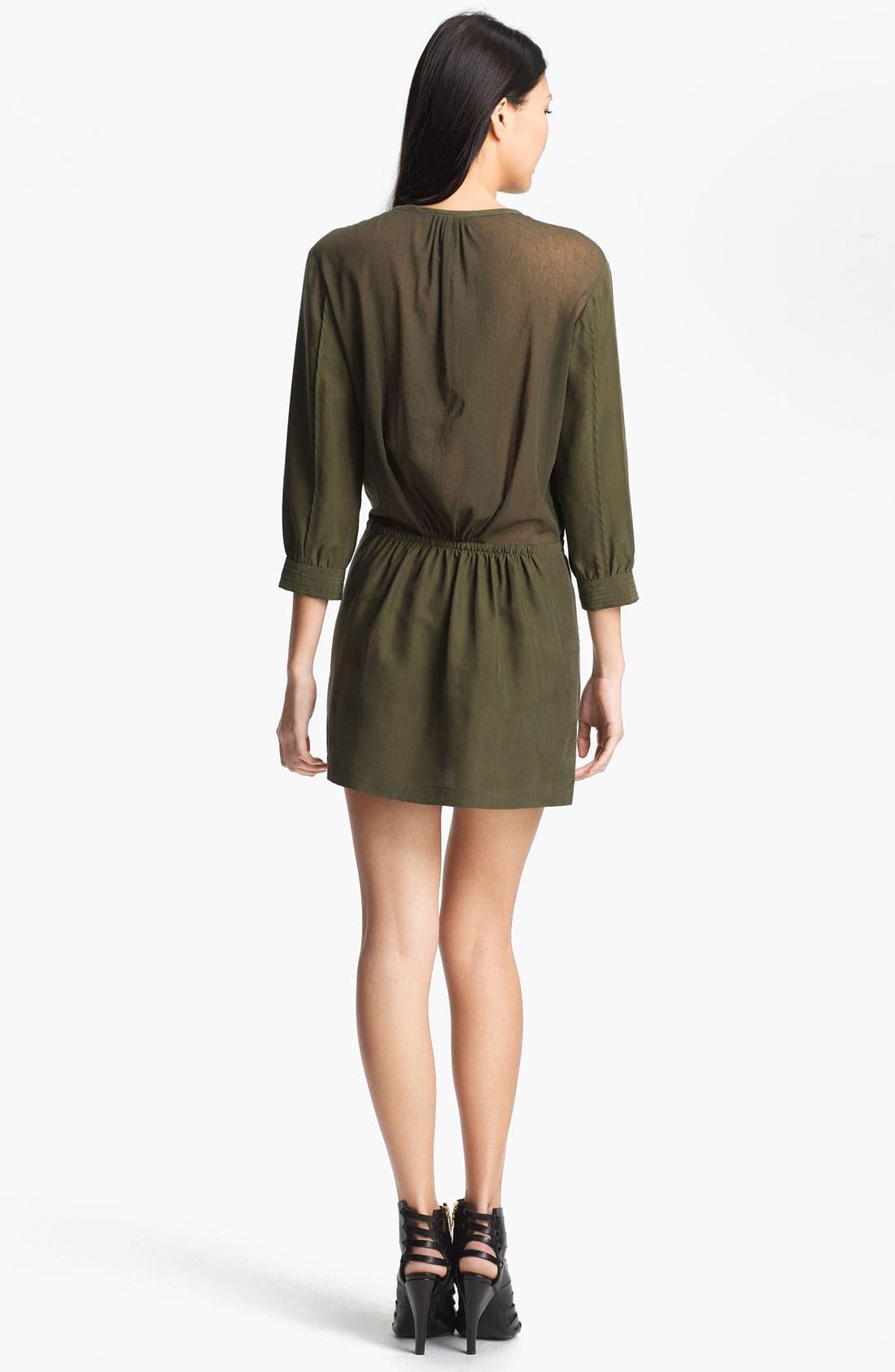 Alternate Image 2  - Edun Mesh Back Silk Dress