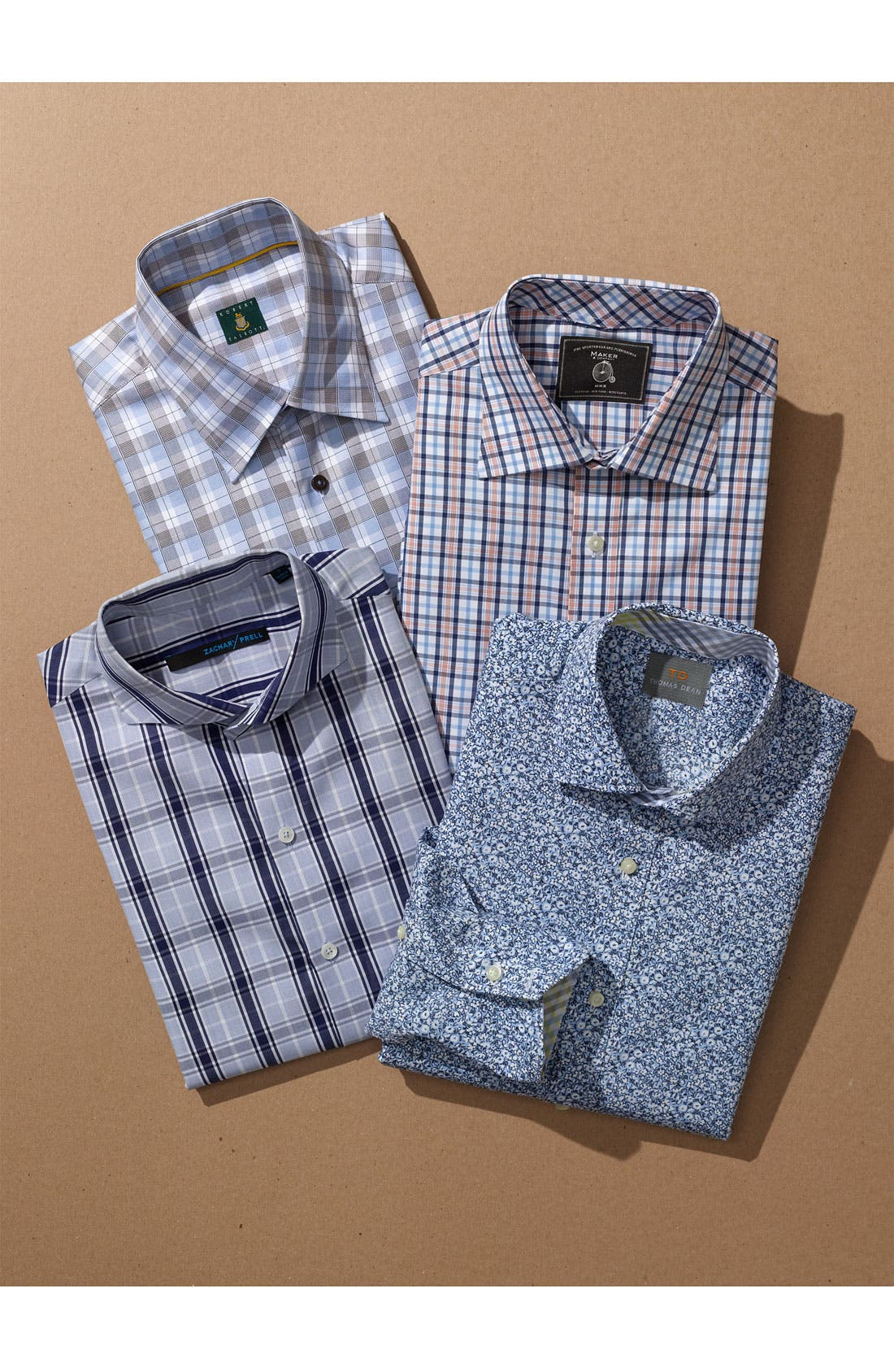 Alternate Image 4  - Robert Talbott Regular Fit Sport Shirt