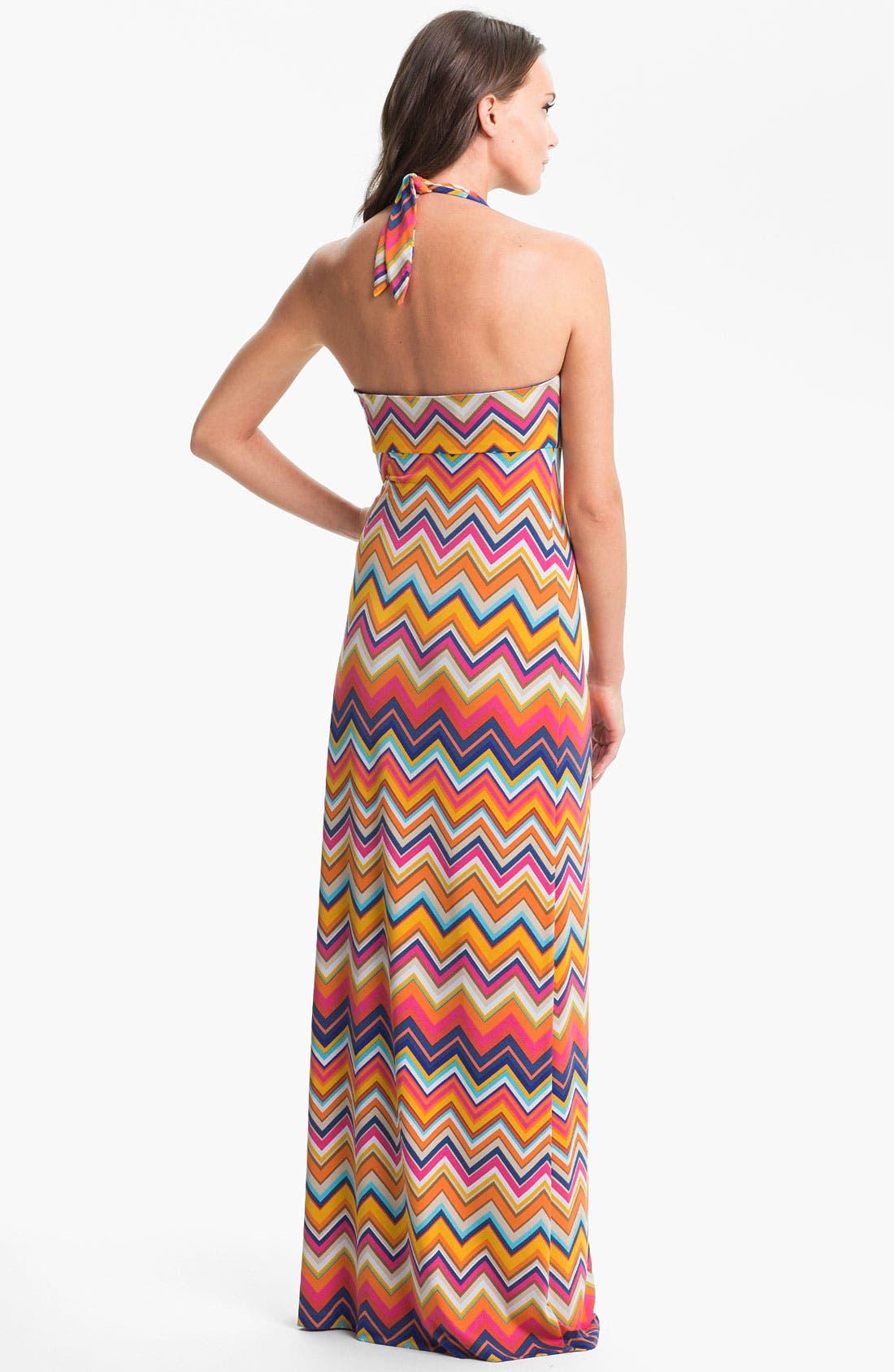 Alternate Image 2  - Trina Turk 'Patio' Halter Stripe Maxi Dress