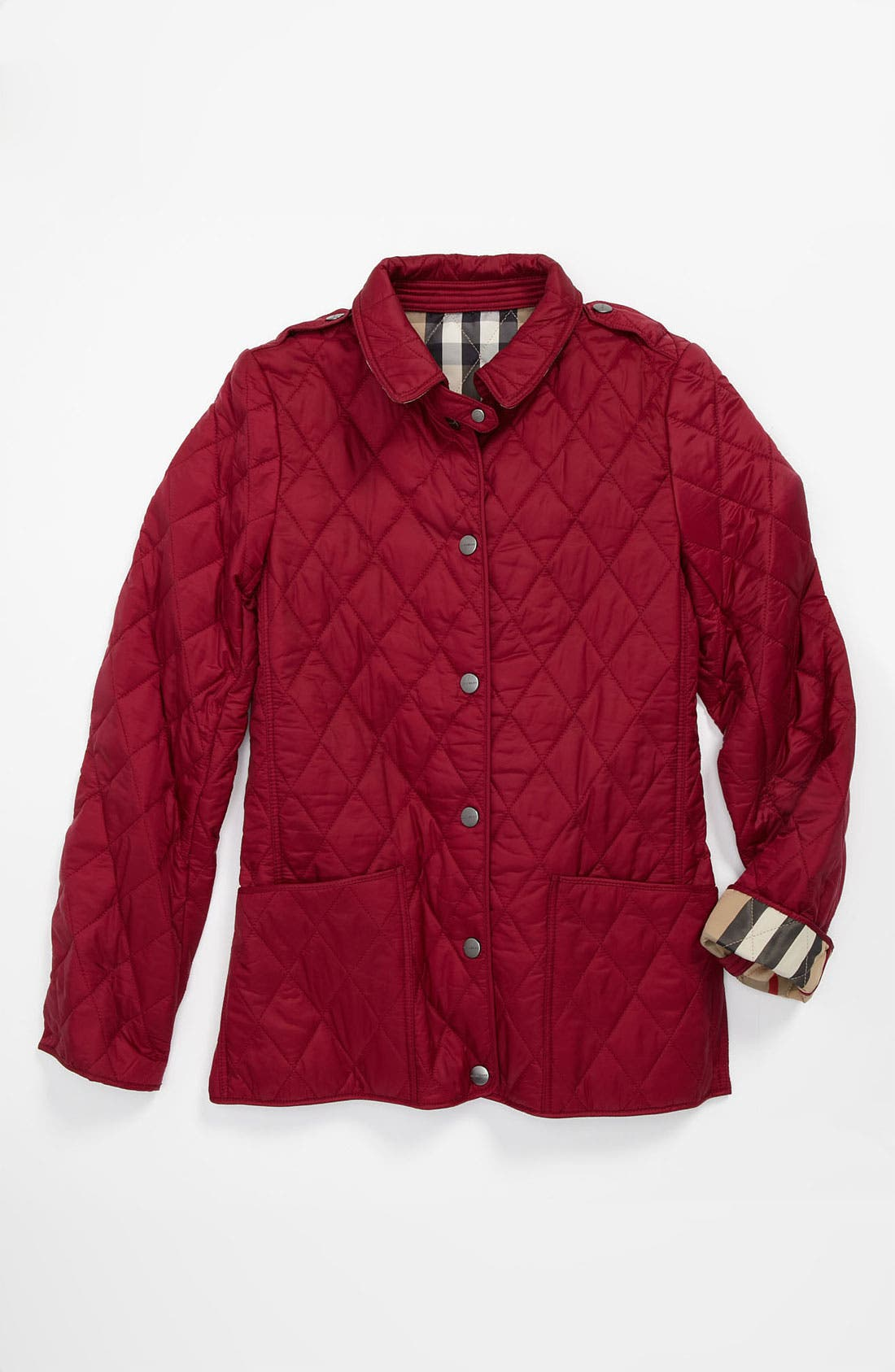 Alternate Image 2  - Burberry 'Mini Pirmont' Quilted Jacket (Little Girls & Big Girls)