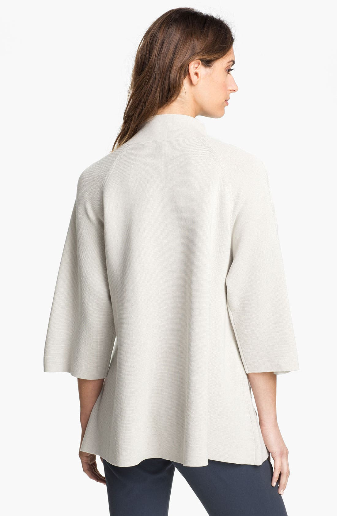 Alternate Image 2  - Eileen Fisher Silk & Cotton Interlock Knit Jacket (Petite)