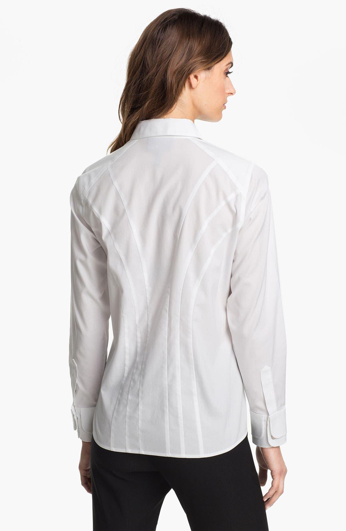 Alternate Image 2  - Foxcroft Stretch Cotton Shirt