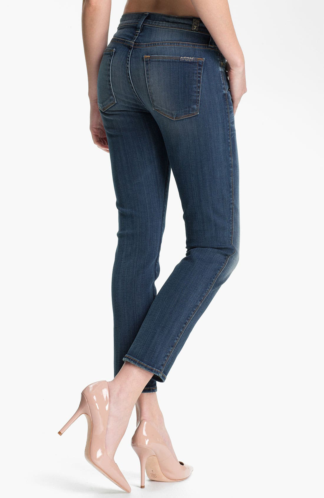 Alternate Image 2  - 7 For All Mankind® Crop Skinny Stretch Jeans (Slim Illusion Medium)