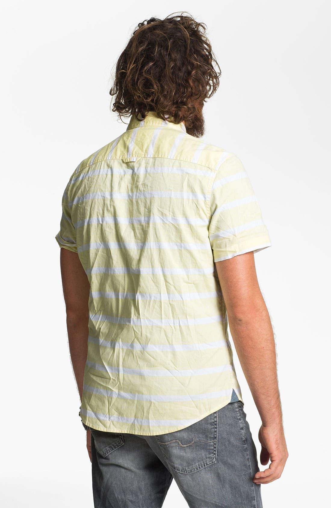 Alternate Image 2  - 1901 Stripe Woven Shirt