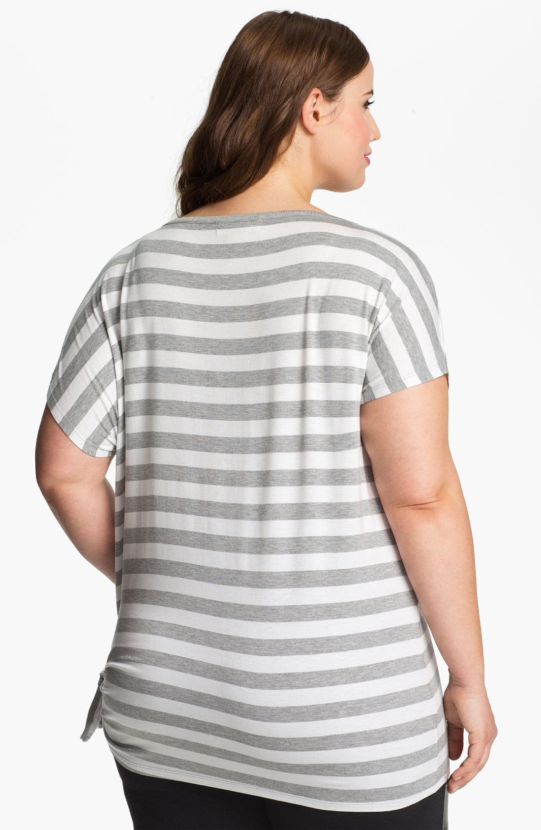 Alternate Image 2  - MICHAEL Michael Kors Stripe Side Tie Tee (Plus)