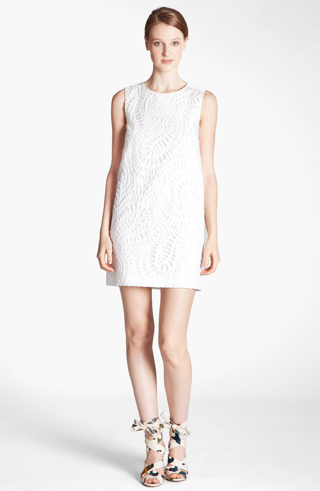 Alternate Image 1 Selected - MSGM Laser Cut Shift Dress