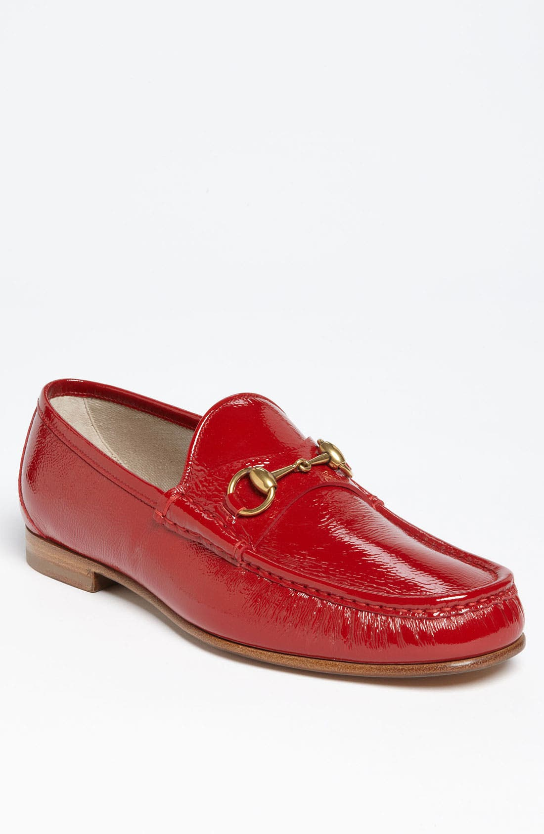 Alternate Image 1 Selected - Gucci 'Roos' Patent Bit Loafer