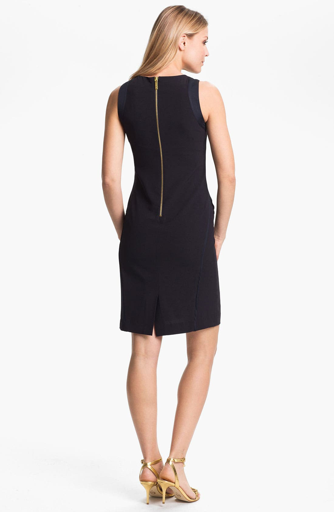 Alternate Image 2  - MICHAEL Michael Kors Embellished Neck Sheath Dress