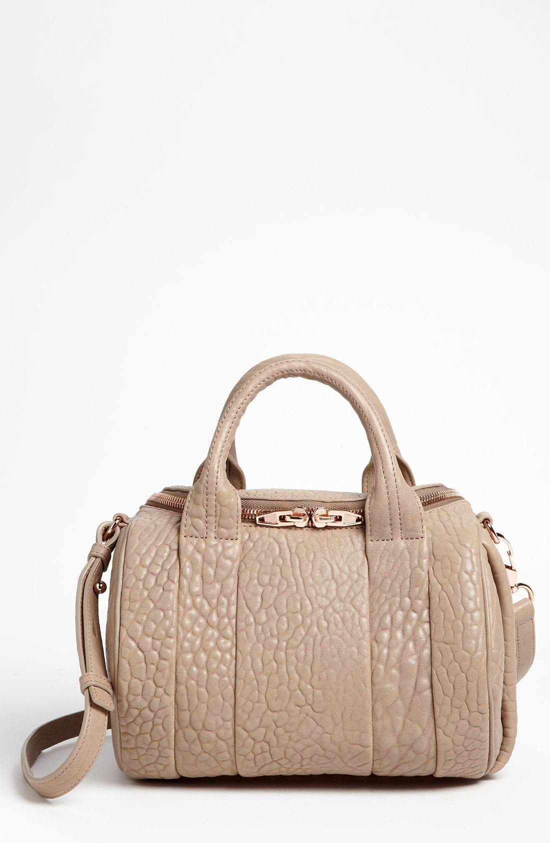 Main Image - Alexander Wang 'Rockie - Rosegold' Leather Shoulder Satchel
