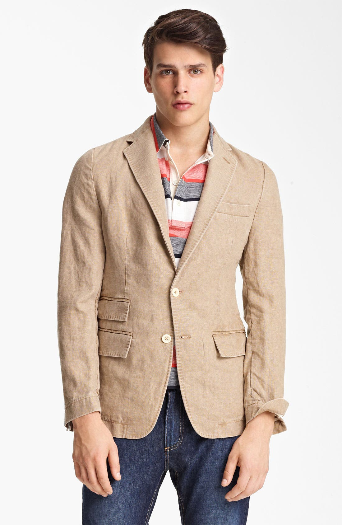 Alternate Image 1 Selected - Billy Reid 'Lewis' Linen Blazer