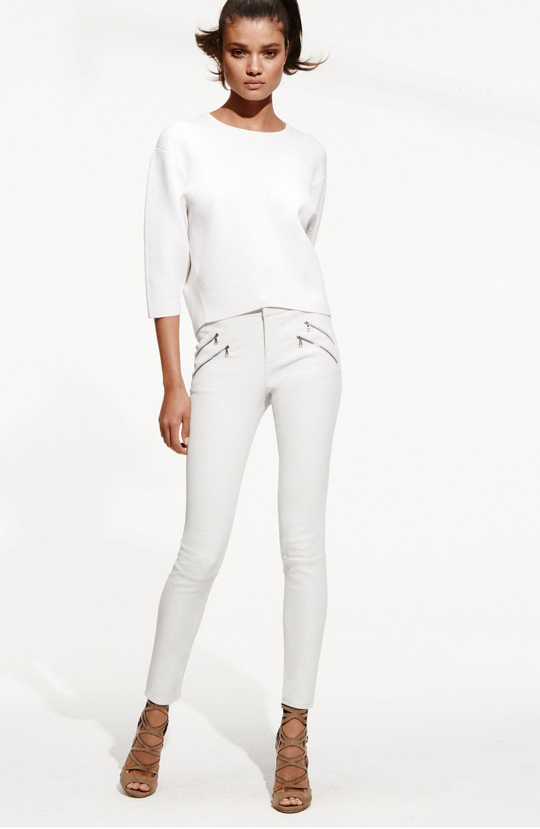 Alternate Image 7  - J Brand Ready-to-Wear 'Claudette' Stretch Leather Pants