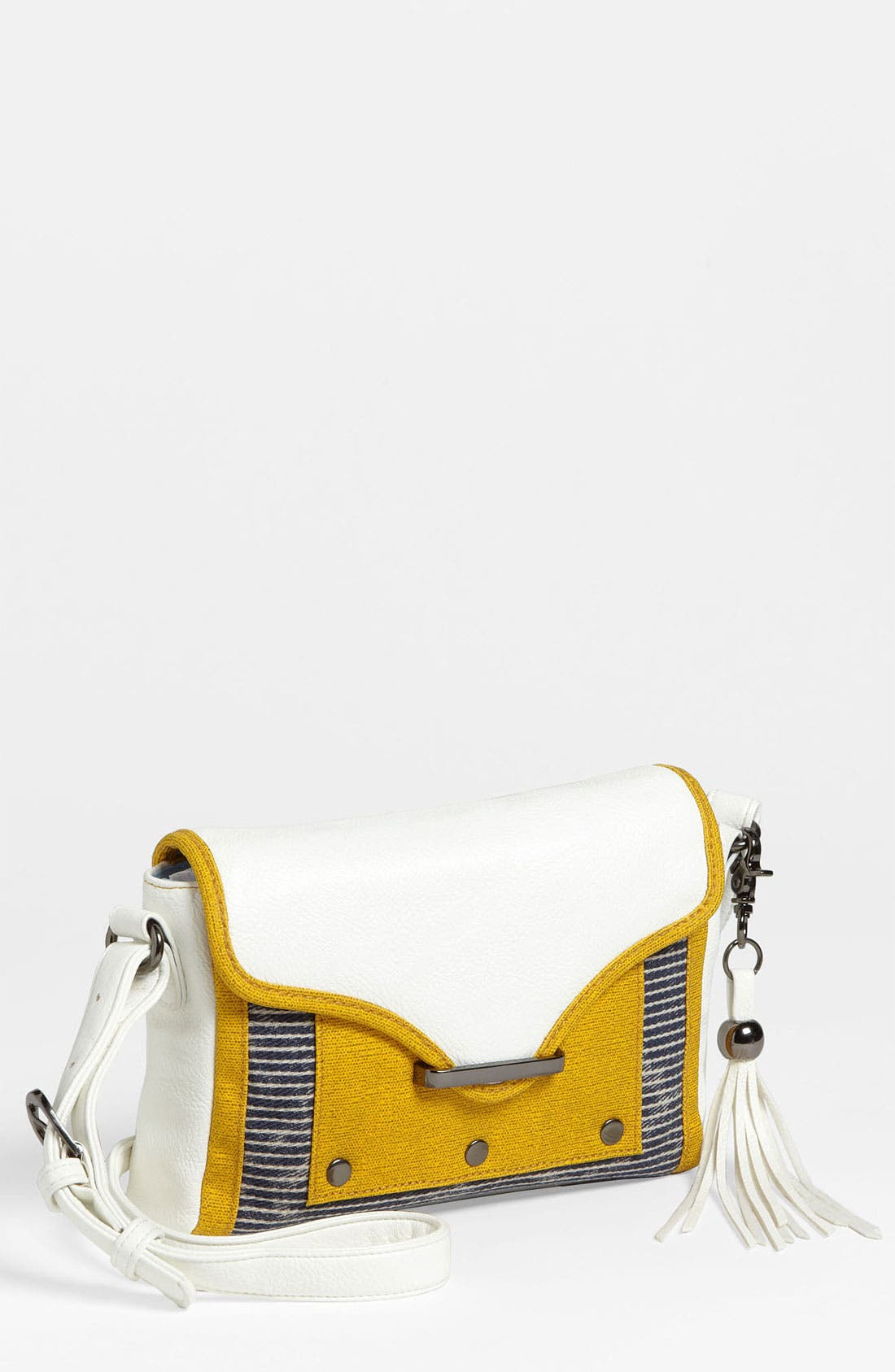 Alternate Image 1 Selected - POVERTY FLATS by rian 'Fringe & Flap - Small' Crossbody Bag