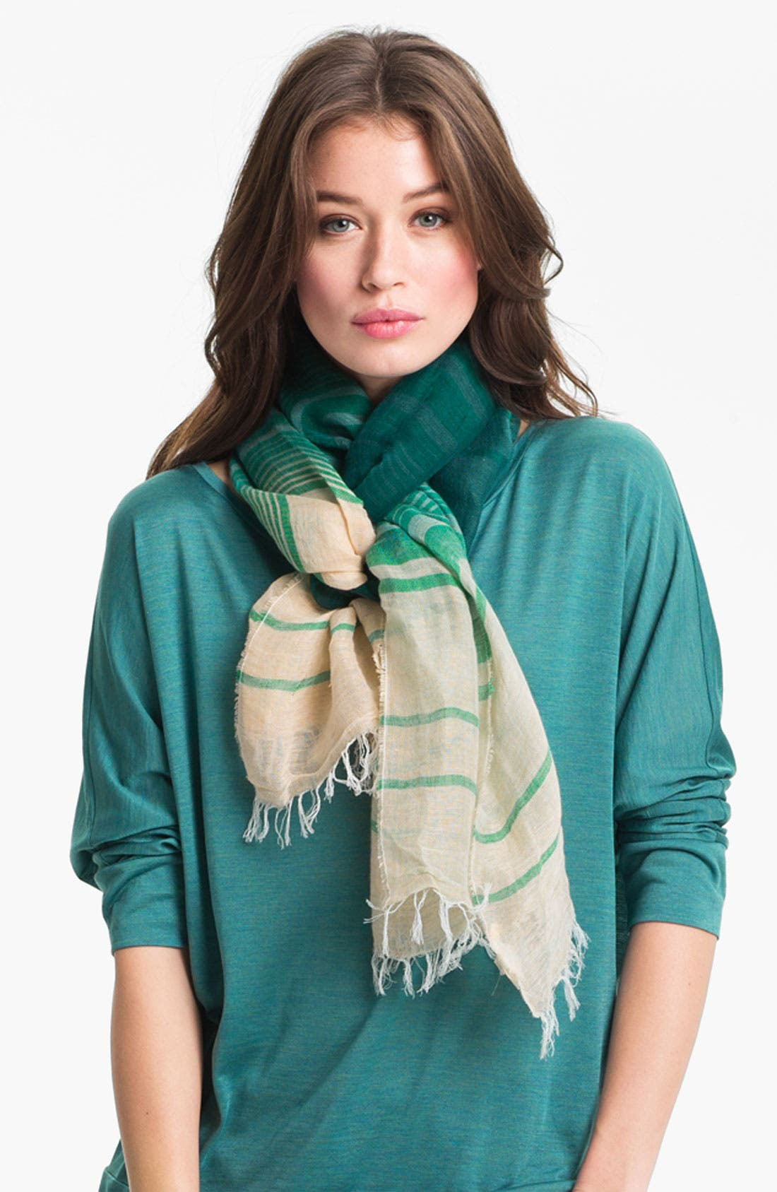Main Image - Eileen Fisher Woven Stripe Scarf