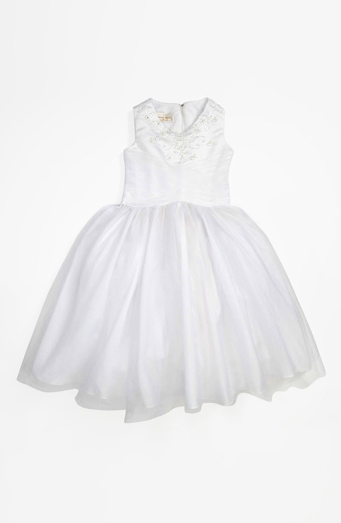 Alternate Image 1 Selected - Lauren Marie Tulle Dress (Little Girls & Big Girls)