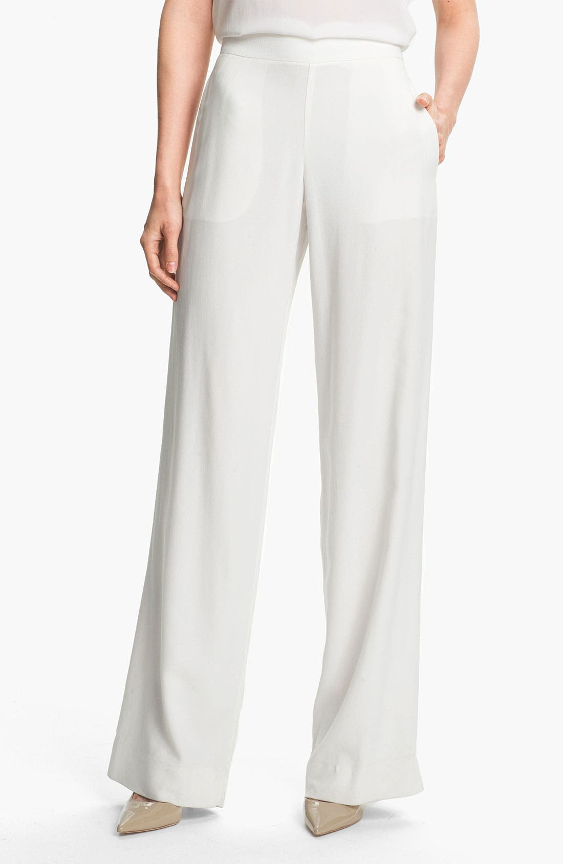 Alternate Image 1 Selected - Theory 'Mitrana' Wide Leg Pants
