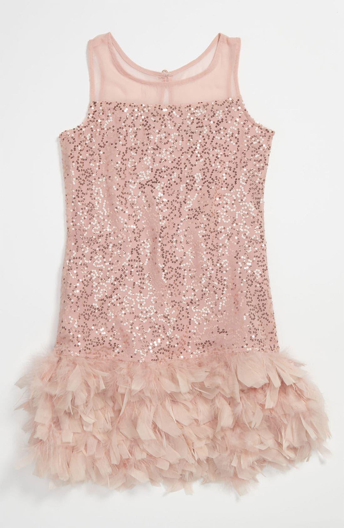 Main Image - Elisa B 'Fancy Feather' Dress (Big Girls)