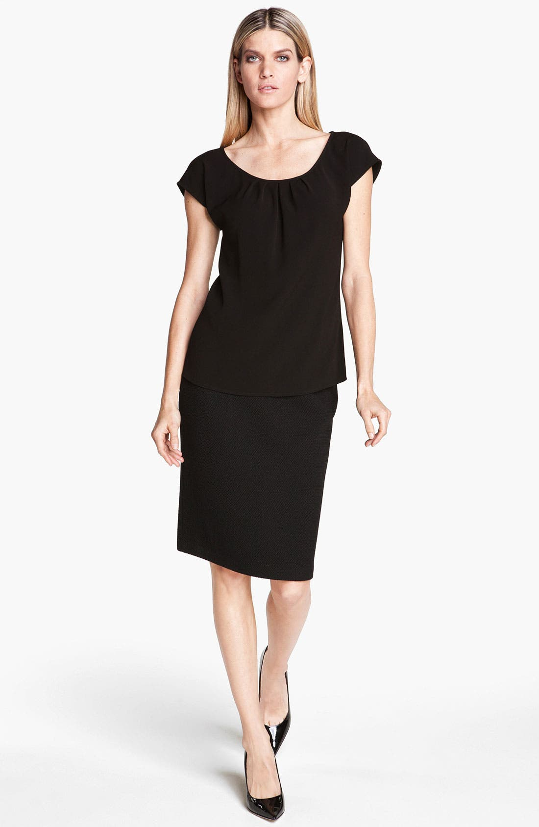 Alternate Image 2  - St. John Collection Crepe Top