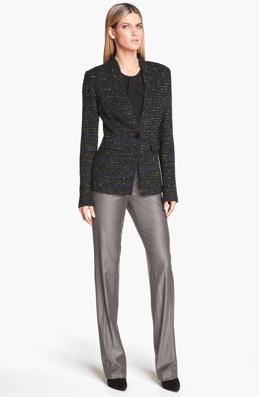 Alternate Image 2  - St. John Collection 'Diana' Shimmer Twill Pants