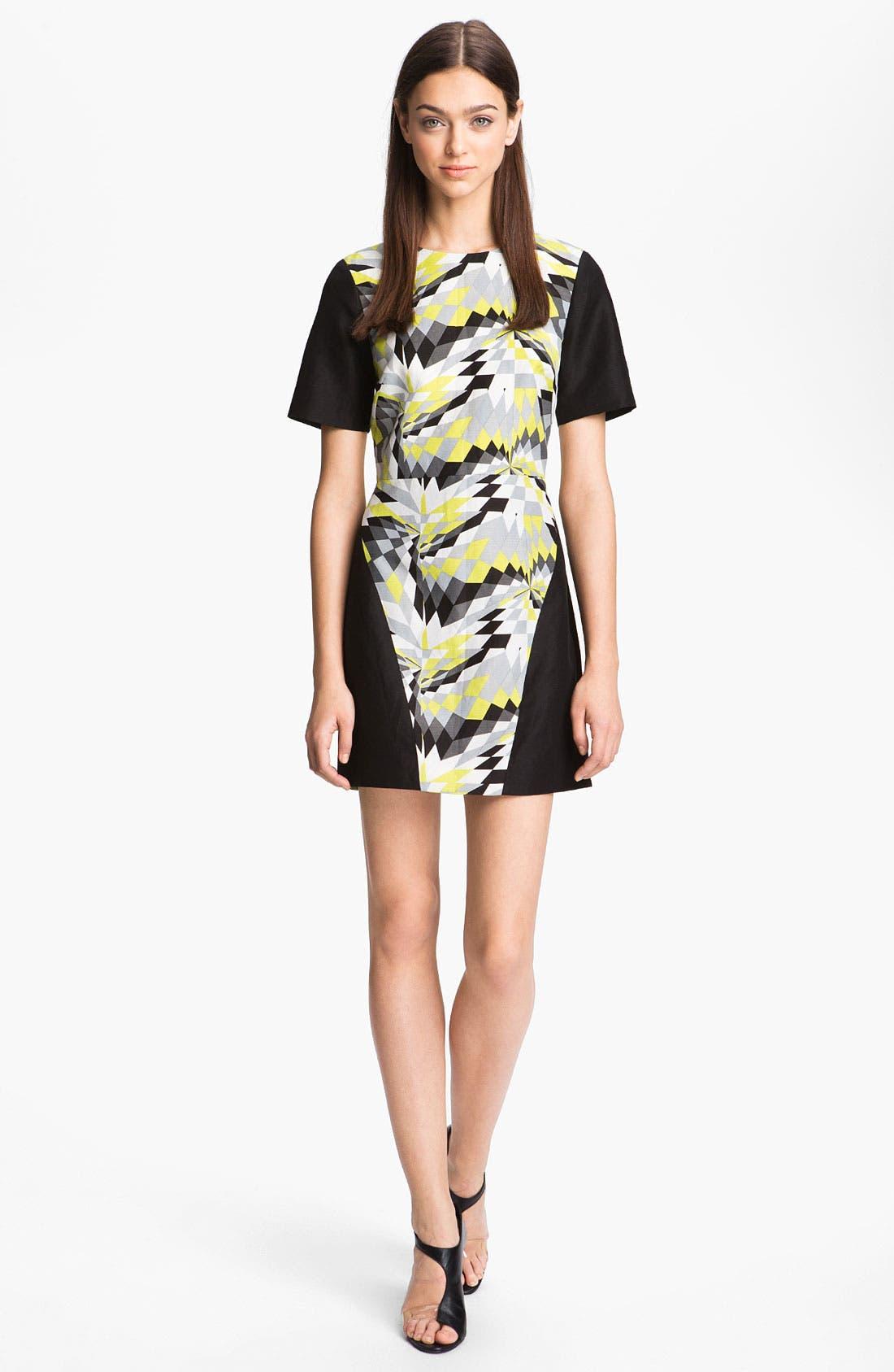 Main Image - Tibi 'Isosceles' Print Colorblock Dress